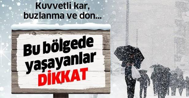Ankara dahil 5 ilimize kuvvetli kar ve buzlanma uyarısı
