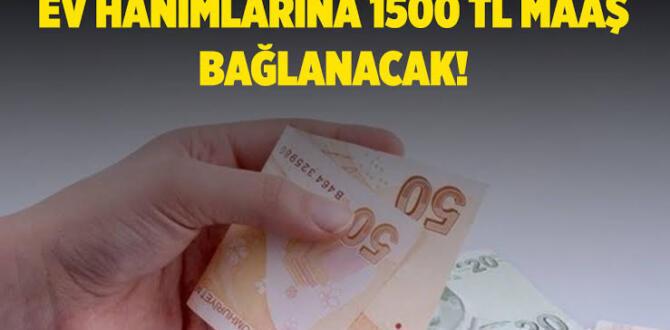 Ev hanımlarına müjde! Kabul edilirse 1.500 TL maaş bağlanacak!