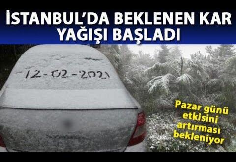 İstanbul'da beklenen kar yağışı başladı. İstanbul kar manzaraları