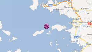 İzmir'in Urla ilçesi açıklarında 4.4 büyüklüğünde deprem