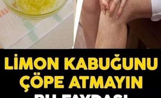 Limonu sıktıktan sonra kabuklarını sakın atmayın