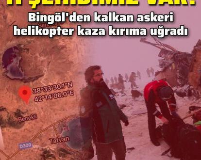 Bitlis-Tatvan kırsalında askeri helikopter düştü: 11 şehitimiz oldu. İsim ve Memleketleri açıklandı