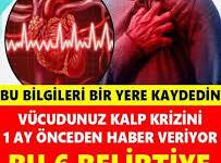 Aslında vücudunuz kalp krizini 1 ay önceden size haber veriyor! Kalp krizi geçirdiğiniz esnada yapmanız gerekenler