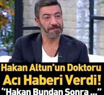 Ünlü şarkıcı Hakan Altun'un doktorundan yeni açıklama! Hakan Altun artık çalışamayacak!