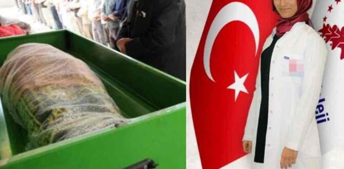 Öldürülen Arife Öğretmenin Cenazesinde Dikkat Çeken Detay!