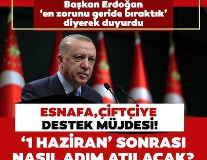 Kritik Kabine Toplantısı sonrası duyurdu… Başkan Erdoğan'dan esnafa ve çiftçiye müjde