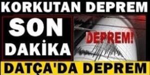 Datça açılarında 5.3 büyüklüğünde deprem meydana geldi.