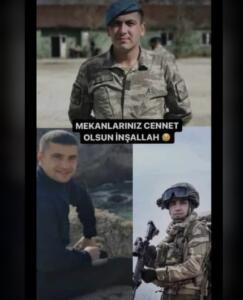 """MSB tarafından yapılan açıklamada, """"Pençe Harekâtı (Irak Kuzeyi/Hakurk) bölgesinde 27 Temmuz 2021 tarihinde arama tarama faaliyeti sırasında teröristlerle temas sağlanmış, çıkan çatışmada iki kahraman silah arkadaşımız şehit olmuş, bir kahraman silah arkadaşımız ise yaralanmış ve derhal hastaneye sevk edilmiştir. Bahse konu çatışmada bölücü terör örgütü mensubu bir terörist etkisiz hale getirilmiştir."""" denildi."""