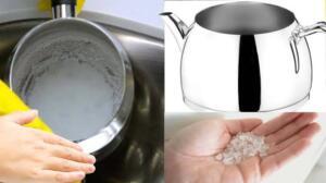 Karbonatın kireç temizleme etkisine bir de limonun parlatıcı özelliği eklendiğinde, çaydanlıklar yeni alınmış gibi duracaktır. Kim istemez ki yenilik hissini oluşturmayı? Temizlemek istediğiniz çaydanlık içine, 1 paket karbonat dökün ve 1 adet limonu da birkaç parçaya keserek karbonatın üzerine atın. Daha sonrasında çaydanlığın yarısını su ile doldurun. Çok fazla su doldurursanız kaynama esnasında taşma problemi ile uğraşabilirsiniz. Çaydanlığı kısık ateşte kaynamaya bırakın ve kirecin dakikalar içinde çözüldüğüne şahit olun. Bu yöntemi deneyerek kireçlenen çaydanlıkları kısa sürede tertemiz yapabilirsiniz. Eğer bölgenizde kireçlenme çok sıkça yaşanıyorsa, haftada iki defa deneyebilirsiniz.