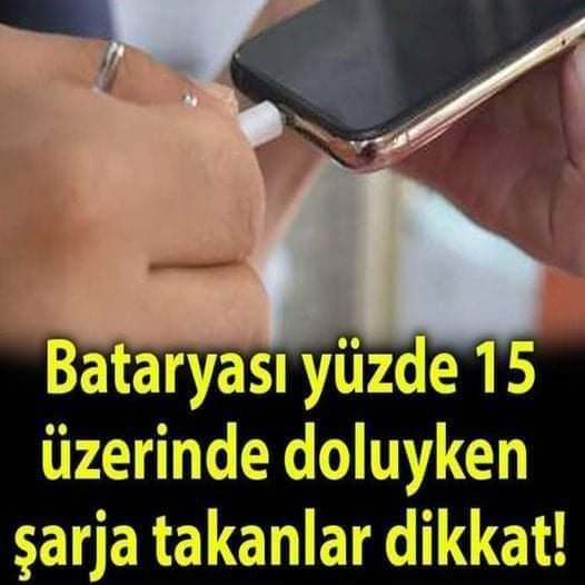 Bataryası yüzde 15 'in üzerinde doluyken telefonunu şarja takanlar için önemli açıklama!