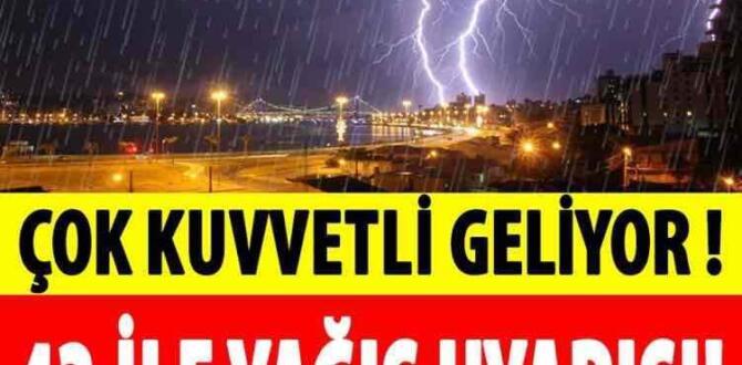 Meteorolojiden 43 ile yağış uyarısı
