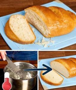 Ekmek bıçağını kaynar suda bekletirseniz... Ekmek keserken, parçalanmalarını önlemek için ekmeği keseceğiniz bıçağı kaynar suyun içinde bekletin.