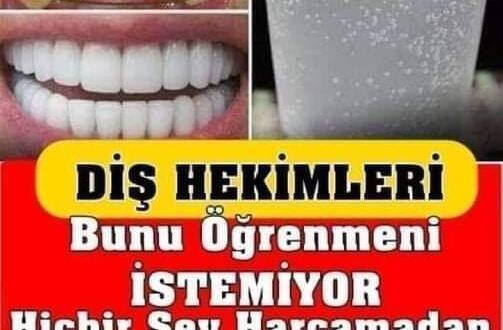 Diş Hekimleri Bunu Öğrenmeni İstemiyor! Diş Hekimine Gitmeden 3 Dakikada Tartarı Ortadan Kaldırın!