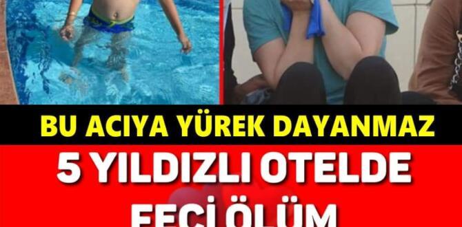 8 yaşındaki Ali Kemal, otelin havuzunda boğuldu