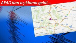Son dakika haberine göre Ankara, Eskişehir, Afyon ve Kütahya'da hissedilen bir deprem meydana geldi. Sosyal medyada çok sayıda kullanıcı depremi hissettiklerini dair mesajlar paylaştı.
