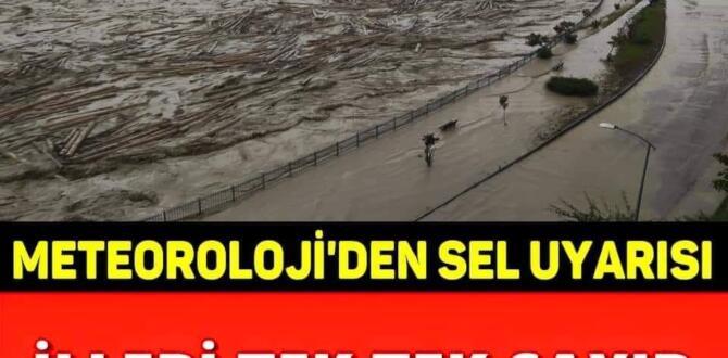 Sel uyarısı