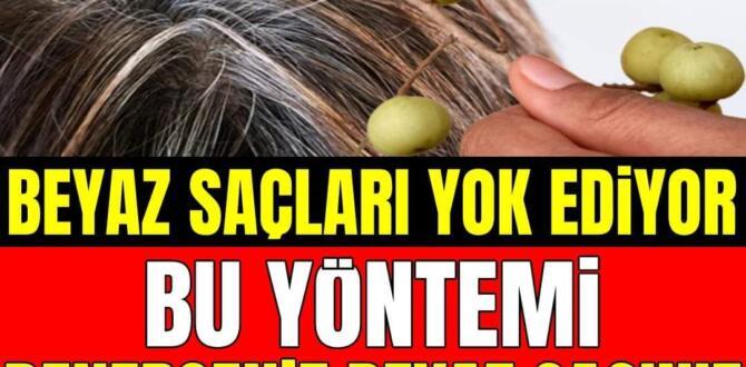 Beyaz saçları yok edip yeniden çıkmasını önleyecek 9 doğal çözüm