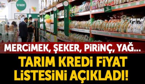 Tarım Kredi marketleri fiyat listesini açıkladı! Mercimek, pirinç, ayçiçek yağı…
