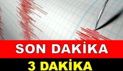 üs üste oldu Deprem oldu