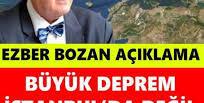 Büyük Deprem İstanbul'da Değil O Şehirde Olacak..