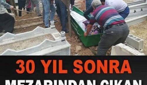 30 yıl sonra mezarı açılan genç bakın ne halde bulundu?
