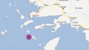 Muğla'nın Datça ilçesi açıklarında saat 01.14'te 5.3 büyüklüğünde bir deprem meydana geldi. Afet ve Acil Durum Yönetimi Başkanlığının (AFAD) internet sitesinde yer alan bilgiye göre, saat 01.14'te Ege Denizi'nde, Muğla'nın Datça ilçesi açıklarında 5,3 büyüklüğünde deprem kaydedildi.