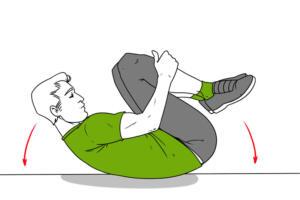 Dizlerinin üzerinde dört ayak pozisyonunda durun. Sırtınızı gevşetin. Kollarınızı dirseklerde hızlı ve keskin bir şekilde bükerek sallamaya başlayın. Bunu 30-60 saniye boyunca yapın. 5. Yerde Sallanın